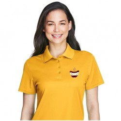 Gold Poly/Cotton Ladies Polo