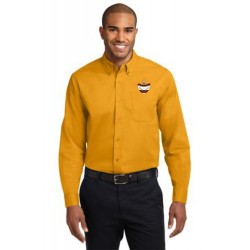 CLEARANCE - Gold Men's Long Sleeve Easy Care Oxford