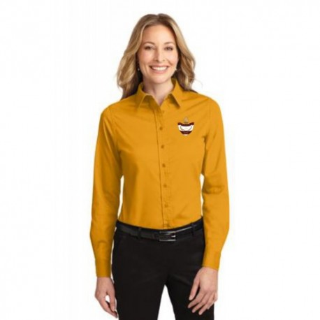 CLEARANCE - Gold Ladies Long Sleeve Easy Care Oxford