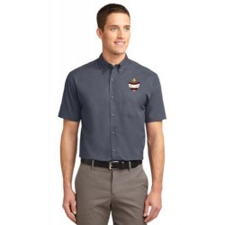 CLEARANCE - Grey Men's Short Sleeve Easy Care Oxford