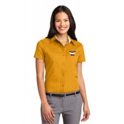 CLEARANCE - Gold Ladies Short Sleeve Easy Care Oxford