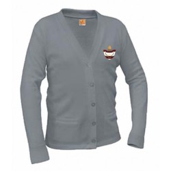CLEARANCE - V-Neck Adult Cardigan (Unisex)