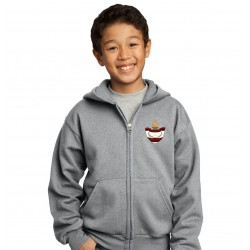 Full-Zip Youth Hooded Sweatshirt